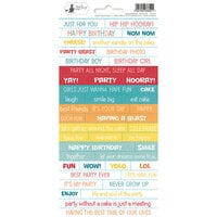 P13 - Happy Birthday Collection - Cardstock Sticker Sheet - One