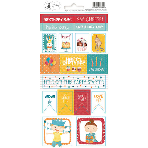 P13 - Happy Birthday Collection - Cardstock Sticker Sheet - Two