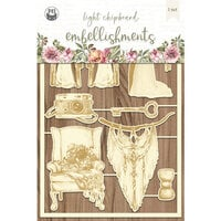 P13 - Always and Forever Collection - Chipboard Embellishments - Set 04