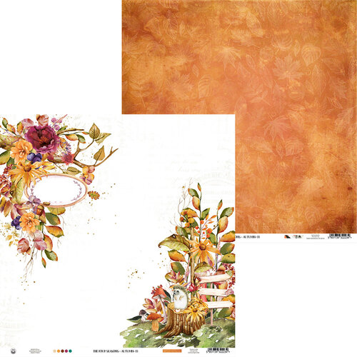 P13 - The Four Seasons Collection - 12 x 12 Double Sided Paper - Autumn 03
