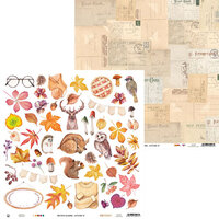 P13 - The Four Seasons Collection - 12 x 12 Double Sided Paper - Autumn 07