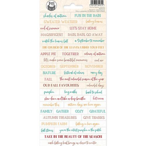 P13 - The Four Seasons Collection - Sticker Sheet - Autumn 01