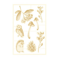 P13 - The Four Seasons Collection - Chipboard Embellishments - Autumn Set 02