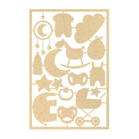 P13 - Baby Joy Collection - Chipboard Embellishments - Set 03