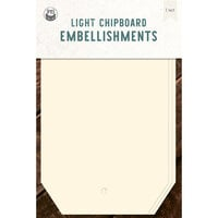 P13 - Chipboard Embellishments - Large Tags - Set 01