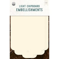 P13 - Chipboard Embellishments - Large Tags - Set 02