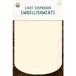 P13 - Chipboard Embellishments - Large Tags - Set 03