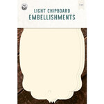 P13 - Chipboard Embellishments - Large Tags - Set 04