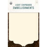 P13 - Chipboard Embellishments - Large Tags - Set 06