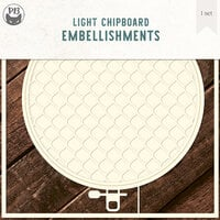 P13 - Chipboard Embellishments - Embroidery Hoop - Set 01