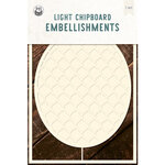 P13 - Chipboard Embellishments - Embroidery Hoop - Set 02