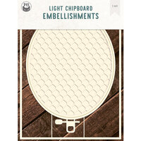 P13 - Chipboard Embellishments - Embroidery Hoop - Set 03