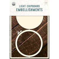 P13 - Chipboard Embellishments - Embroidery Hoop - Set 04
