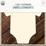 P13 - Chipboard Embellishments - Bodysuit - Set 01