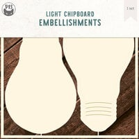 P13 - Chipboard Embellishments - Bulb - Set 01