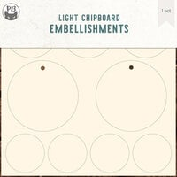 P13 - Chipboard Embellishments - Small Tags - Set 01