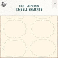 P13 - Chipboard Embellishments - Small Tags - Set 04