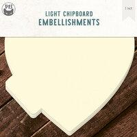 P13 - Chipboard Album Base - 6 x 6 Heart