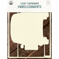 P13 - Chipboard Embellishments - Deco Base - Camper - Refill
