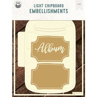P13 - Chipboard Embellishments - Album Base - Jar