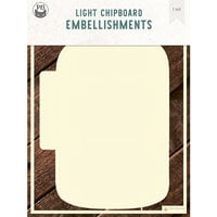 P13 - Chipboard Embellishments - Album Base - Jar - Refill