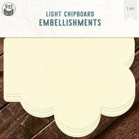 P13 - Chipboard Embellishments - Album Base - Flower