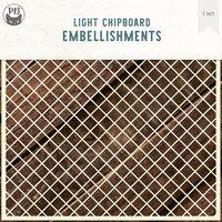 P13 - Chipboard Embellishments - Deco Base - Background Set 08 - Medium Lattice
