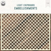 P13 - Chipboard Embellishments - Deco Base - Background Set 10 - Medium Circle Link