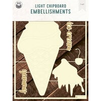 P13 - Chipboard Embellishments - Deco Base - Ice Cream