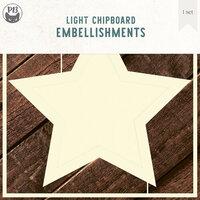 P13 - Light Chipboard Embellishments - Deco Base - 6 x 6 Star