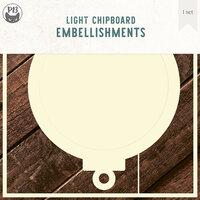 P13 - Light Chipboard Embellishments - Deco Base - 6 x 6 Bauble