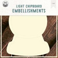 P13 - Light Chipboard Embellishments - Deco Base - 8 x 8 Snow Globe