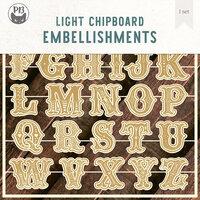 P13 - Light Chipboard Embellishments - Deco Base - 6 x 6 Cookie Alphabet