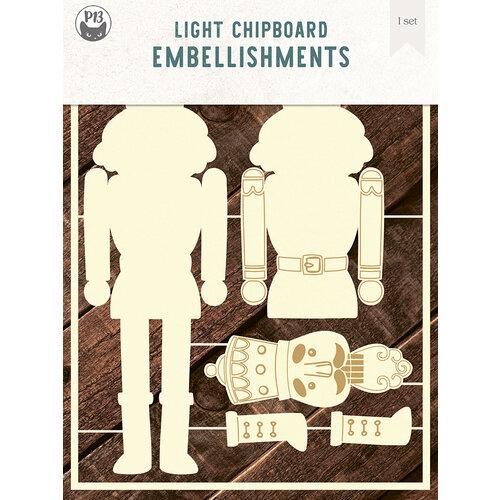 P13 - Light Chipboard Embellishments - 6 x 8 Nutcracker