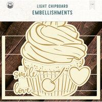 P13 - Light Chipboard Embellishments - Album Base - 12 x 12 Cupcake