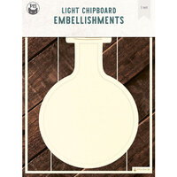 P13 - Light Chipboard Embellishments - Deco Base - 6 x 8 Bottle