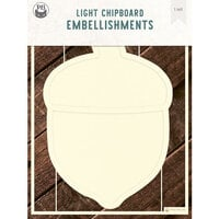 P13 - Light Chipboard Embellishments - Deco Base - 6 x 8 Acorn