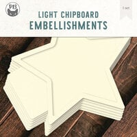 P13 - Light Chipboard Embellishments - Album Base - 12 x 12 Star
