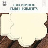 P13 - Light Chipboard Embellishments - Album Base - 12 x 12 Flower
