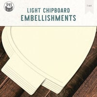 P13 - Light Chipboard Embellishments - Album Base - 12 x 12 Heart