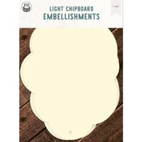 P13 - Light Chipboard Embellishments - Album Base - 6 x 8 Cloud