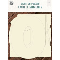 P13 - Light Chipboard Embellishments - Deco Base - 6 x 6 Numbers - 0 through 9