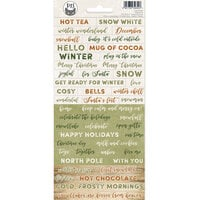 P13 - Cosy Winter Collection - Cardstock Stickers - Sheet 01