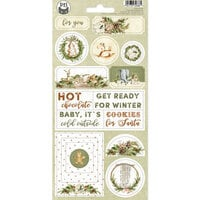 P13 - Cosy Winter Collection - Chipboard Stickers - Sheet 02
