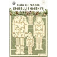 P13 - Cosy Winter Collection - Light Chipboard Embellishments - Set 01