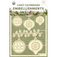 P13 - Cosy Winter Collection - Light Chipboard Embellishments - Set 02
