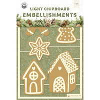 P13 - Cosy Winter Collection - Light Chipboard Embellishments - Set 03
