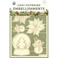 P13 - Cosy Winter Collection - Light Chipboard Embellishments - Set 04