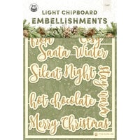 P13 - Cosy Winter Collection - Light Chipboard Embellishments - Set 06