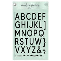 P13 - Clear Photopolymer Stamps - Alphabet - Set 01